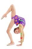 Gymnast da rapariga Imagens de Stock Royalty Free