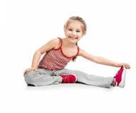 Gymnast della ragazza fotografie stock libere da diritti