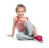 Gymnast della ragazza fotografia stock