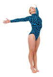 Gymnast, der auf ihren Zehen steht Lizenzfreies Stockfoto