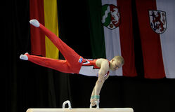 Gymnast Fabian Hambüchen. Royalty Free Stock Images