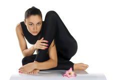 Gymnast flessibile della donna Immagini Stock Libere da Diritti