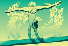 Gymnast flexível ilustração royalty free
