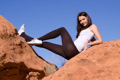 Gymnast flexível Foto de Stock Royalty Free