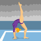 Gymnast girl Royalty Free Stock Photo