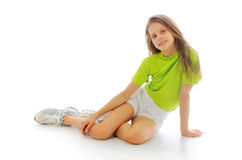 Gymnast girl Royalty Free Stock Photos