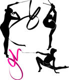Gymnast royalty free illustration