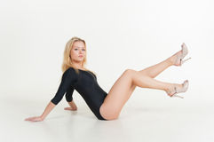 Gymnast girl blonde Stock Image