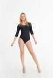 Gymnast girl blonde Stock Images