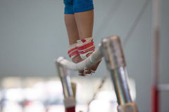 Gymnast Parallel Bars Straps Hands  Royalty Free Stock Images