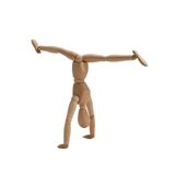 The Gymnast: Handstand With Splits Royalty Free Stock Image