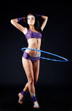 Gymnast with a hoop Stock Photo