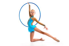 Gymnast with the hoop Royalty Free Stock Photos