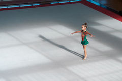 The gymnast is in the initial position Royalty Free Stock Image