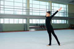 The gymnast is in the initial position Royalty Free Stock Photo