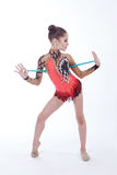 Gymnast with a mace Stock Photography