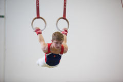 Gymnast Male Rings Horizontal  Stock Image