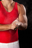 Gymnast maschio Fotografie Stock