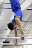Gymnast On Parallel Bars Stock Photos