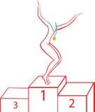 Gymnast on a pedestal Stock Photography