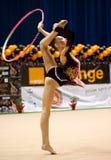 Gymnast performs at Irina Deleanu Orange Trophy Royalty Free Stock Photos