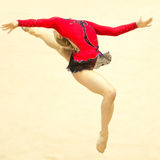 Gymnast performs during Irina Deleanu Trophy Stock Photo