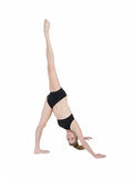 Gymnast pointing foot to the sky Royalty Free Stock Photo