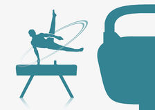 Gymnast on a pommel Stock Images