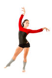 Gymnast russo in costume da bagno di sport immagini stock libere da diritti