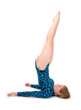 Gymnast  shoulder stand Royalty Free Stock Photography