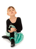 Gymnast sitting on the floor Royalty Free Stock Images
