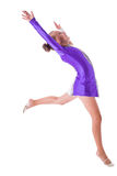 Gymnast standing on one leg Royalty Free Stock Photo