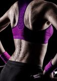 Gymnast sweating royalty free stock photo