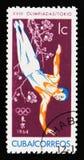 Gymnast 18th olympiska spel i Tokyo, circa 1964 Fotografering för Bildbyråer