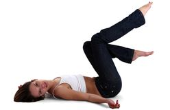 Gymnast woman stock photography