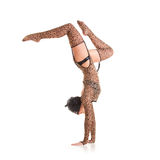 Gymnast woman Royalty Free Stock Photo