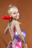 Gymnast young girl Stock Photos