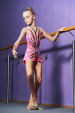Gymnast young girl Royalty Free Stock Images