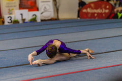 Gymnast Young Girls Floor Dance Style Royalty Free Stock Image