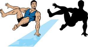 gymnastbanhoppning vektor illustrationer