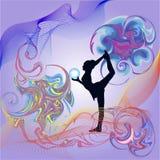 Gymnaste avec une bille illustration stock