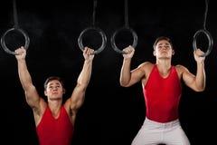 Gymnaste mâle Image libre de droits