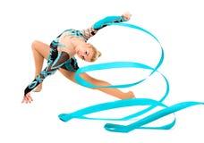 Gymnaste professionnel avec le ruban Photographie stock libre de droits