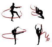 Gymnastes Photos libres de droits