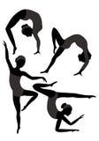Gymnastes illustration stock