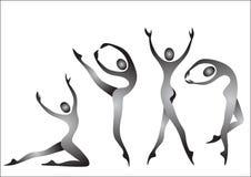 gymnastes Images libres de droits