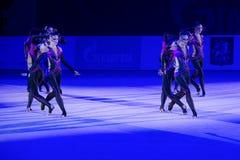 Gymnastes de représentation Image stock