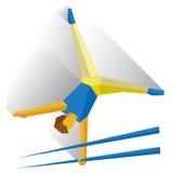 Gymnastes exécutant une routine sur des barres parallèles illustration libre de droits