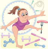Gymnastes rêveuses de femmes Photo stock