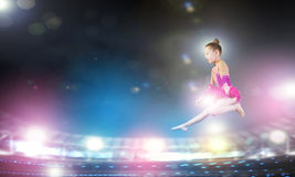 Gymnastflicka Royaltyfri Fotografi